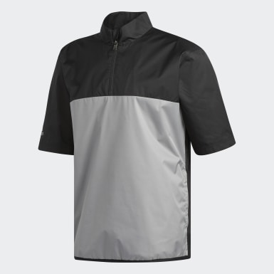 Men Golf Black Climastorm Provisional Short Sleeve Jacket
