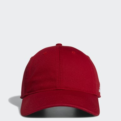 Men's Training Red Adjustable Washed Slouch Hat