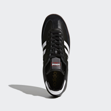 Soccer Black Samba Leather Shoes