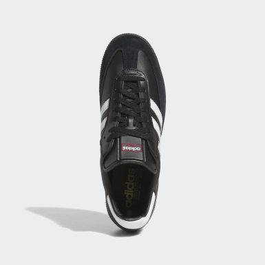 Lifestyle Zwart Samba Leren Schoenen