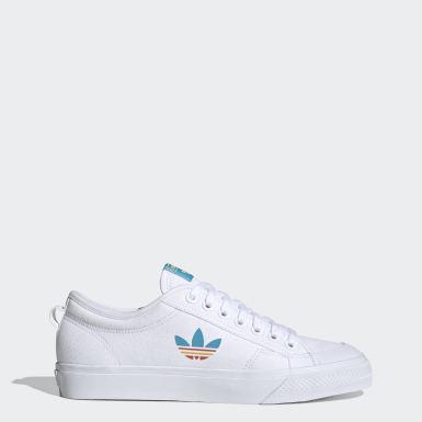 Originals สีขาว รองเท้า Nizza Trefoil