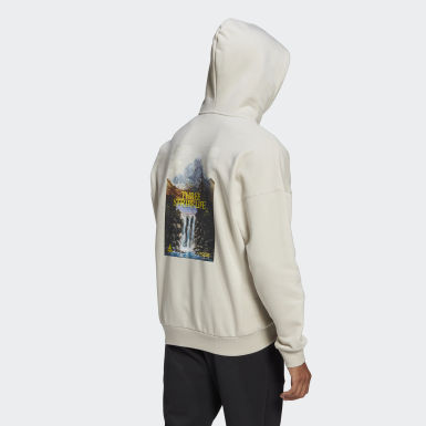 Men's Athletics Beige adidas Sportswear Mountain Graphic Hoodie