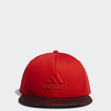 Men Golf Red Printed Bill Hat