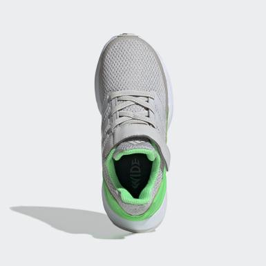 Children Running Grey RapidaRun Wide Shoes