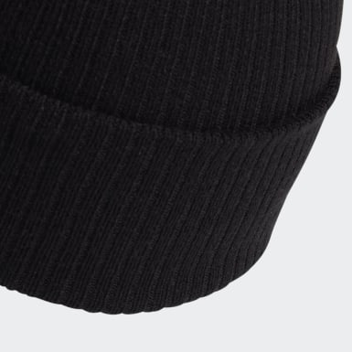 Originals Svart Adicolor Ribbed Cuff Beanie