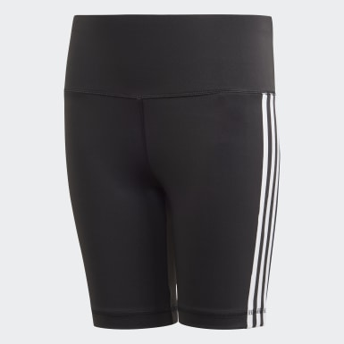 Girls Studio Black Believe This 3-Stripes Short Tights