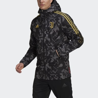 Men Football Black Juventus CNY Padded Jacket