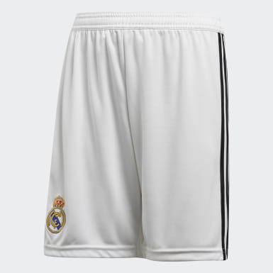 Shorts de Local Real Madrid Réplica Blanco Niño Fútbol