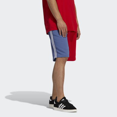 Herr Originals Röd Blocked 3-Stripes Sweat Shorts
