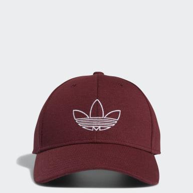 Men Originals Red Structured Classic Outline Hat