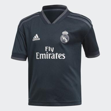 Barn Fotboll Grå Real Madrid Bortaställ, mini