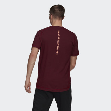 Men Football Red Manchester United Travel Tee
