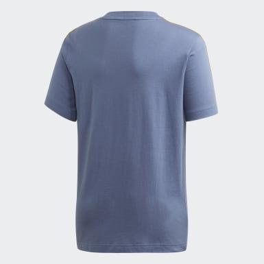 Remera Essentials 3 Tiras Azul Niño Athletics