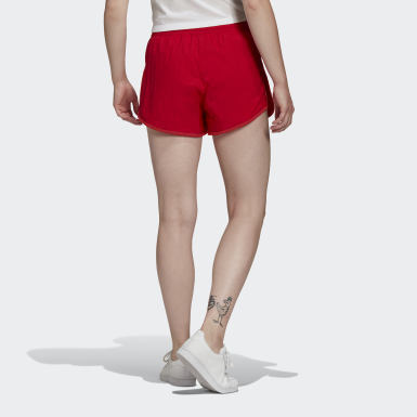 Short Adicolor Classics 3-Stripes rouge Femmes Originals