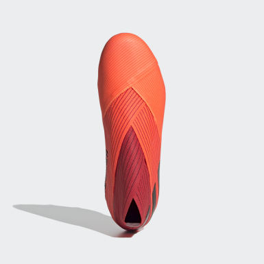 Kids Football Orange Nemeziz 19+ Firm Ground Boots