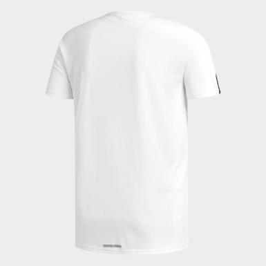 Männer Running Running 3-Streifen T-Shirt Weiß