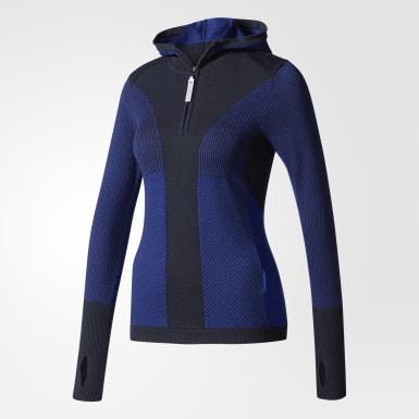 Playera Run Ultra Hooded Azul Mujer adidas by Stella McCartney