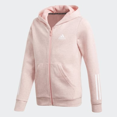felpa adidas donna zip rosa