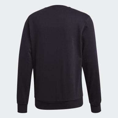 Erkek Training Siyah Essentials 3 Bantlı Sweatshirt