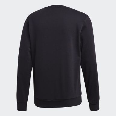 Men Lifestyle Black Essentials 3-Stripes Sweatshirt