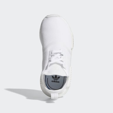 Children Originals White NMD_R1 Shoes