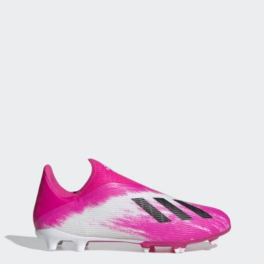 Zapatos de Fútbol X 19.3 Terreno Firme Blanco Hombre Fútbol