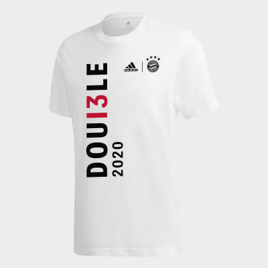 FCB DOUBLE T-shirt 2020 Y Bialy