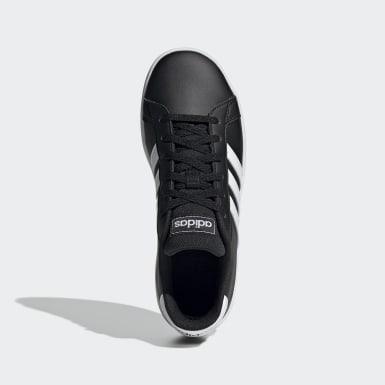 Çocuklar Sport Inspired Siyah Grand Court Ayakkabı