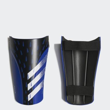 Football Blue Predator Training Shin Guards