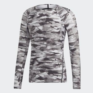 Camiseta 1/1 Alphaskin 360 adidas x UNDEFEATED Gris Hombre Originals