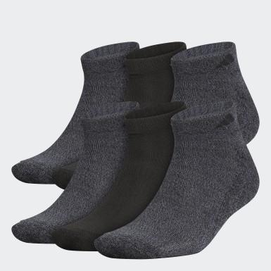 Men Training Black Athletic Low-Cut Socks 6 Pairs