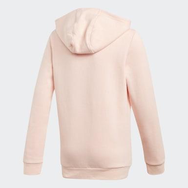 Girls Originals Pink Adicolor 3D Trefoil Hoodie