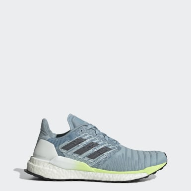 Women Running Blue Solar Boost Shoes