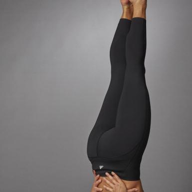 Ženy Beh čierna Legíny Elevate Yoga Flow 7/8