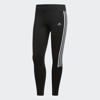 Dames Hardlopen Zwart Running 3-Stripes Legging