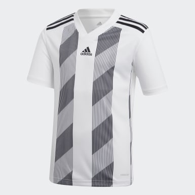 Youth Soccer White Striped 19 Jersey