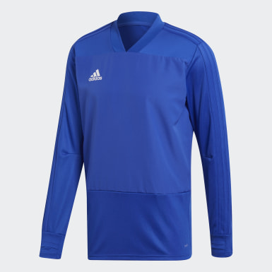 Heren Training Blauw Condivo 18 Player Focus Training Longsleeve