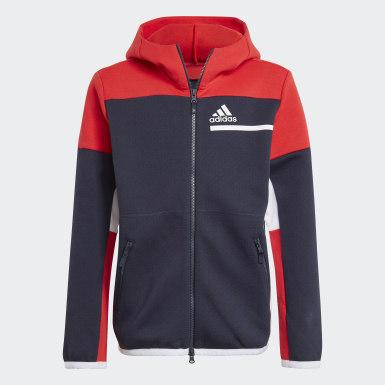 Boys Athletics Blå Z.N.E. Full-Zip hættetrøje