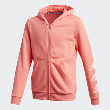 Youth Training Red Must Haves Logo Full-Zip Hoodie