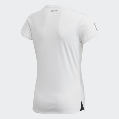 T-shirt Club Blanc Filles Padel Tennis