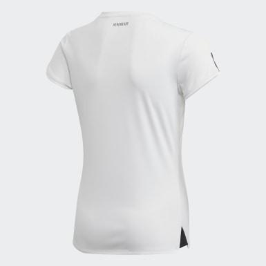 Dívky Padel Tenis bílá Triko Club
