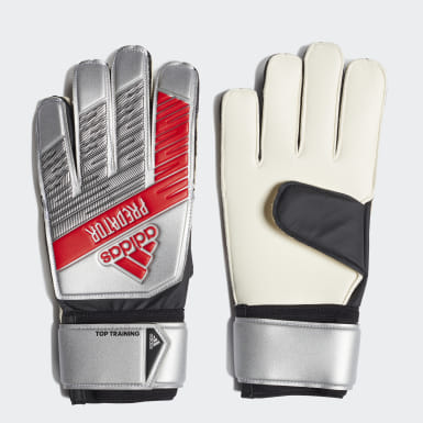 Football Silver Predator Top Training Goalkeeper Gloves