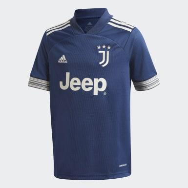 Kinder Fußball Juventus Turin 20/21 Auswärtstrikot Blau