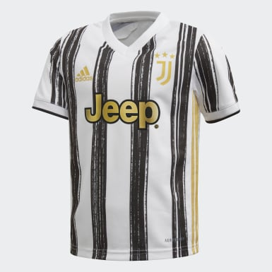Kids 4-8 Years Football White Juventus Home Mini Kit