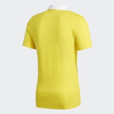 Men Football Yellow Condivo 18 Cotton Polo Shirt