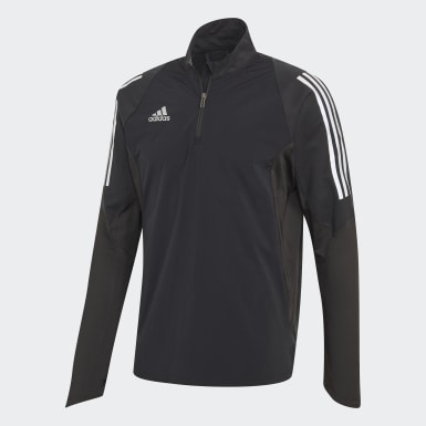 Men Football Black Ultimate 19 Hybrid Training Top