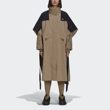 Frauen Originals HYKE Mountain Poncho Braun