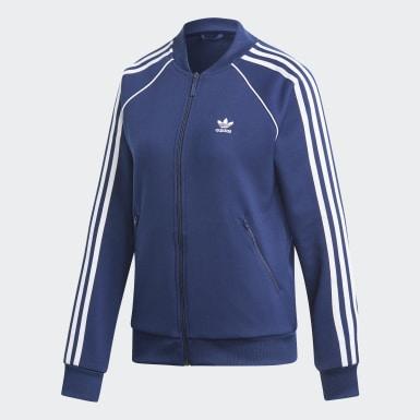 Kvinder Originals Blå SST træningsjakke