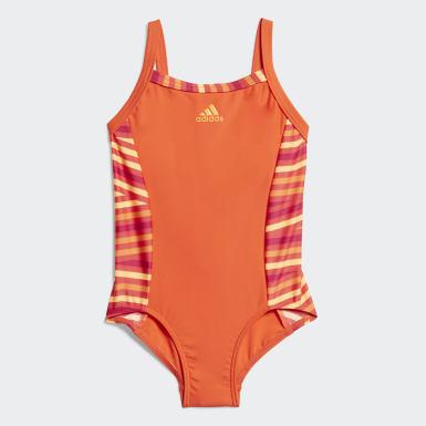 Mädchen Wassersport Badeanzug Orange