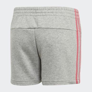 Short Essentials 3-Stripes Grigio Ragazza Athletics